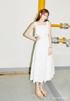 Image about lee sung kyung in photoshoot by sky Kim Sohyun, Lee Sung Kyung, Korean Actors, Asian Beauty, Asian Girl, White Dress, Celebs, Photoshoot, Actresses