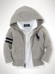 Big Pony Full-Zip Cardigan - Sweaters Infant Boy (9M–24M) - RalphLauren.com