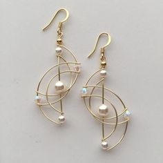 *We hand make all our jewelry. Due to h… Unique Wire Art Sculpture Woven Earring. *We hand make all our jewelry. Due to high volume of orders, please allow weeks for delivery. Beaded Earrings, Earrings Handmade, Beaded Jewelry, Handmade Jewelry, Wire Jewellery, Jewlery, Wire Jewelry Earrings, Gold Earrings, Gold Bracelets