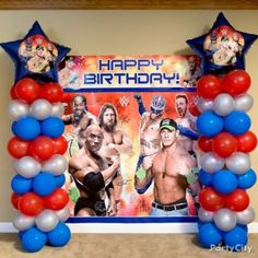 WWE Balloon Column DIY
