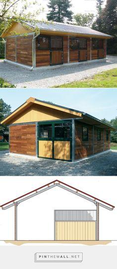 Compact three horse barn | Röwer & Rüb - created via http://pinthemall.net