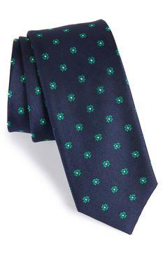 Main Image - The Tie Bar Primrose Flowers Silk Tie