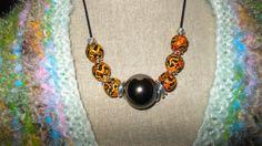 Gazing Ball Necklace by RedRadishStudio on Etsy, $19.99 Ball Necklace, Washer Necklace, Jewellery, Studio, Red, Handmade, Etsy, Hand Made, Jewels