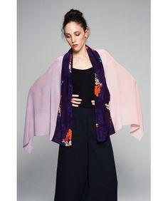 florenz Tina Patchwork silk scarf with japanese print