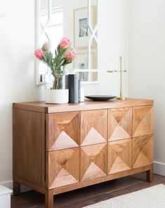 Quinn Sideboard + Haven Mirror Decoration Hall, Studio Mcgee, Home Pictures, First Home, Home Accessories, Family Room, Upholstery, Sweet Home, New Homes