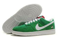 detailing d3874 9e970 ... Pas Cher Nike Dunk Low Cut Vert SB Prommo Blanc Chaussures, EUR €66.25  ...