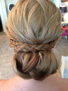 Wedding Hair Updo with Braid www.chmakeupartistry.com
