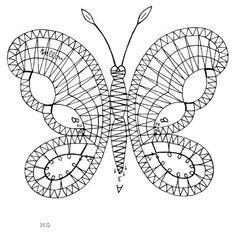 """Photo from album """"Вологодское +++"""" on Yandex. Filet Crochet, Irish Crochet, Crochet Lace, Bobbin Lace Patterns, Crochet Patterns, Bobbin Lacemaking, Crochet Butterfly, Iris Folding, Lace Heart"""