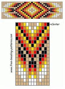 Native American Loom Beading Patterns Free Non Native Beading Patterns, Beadwork Designs, Seed Bead Patterns, Beaded Jewelry Patterns, Beading Jewelry, Embroidery Patterns, Weaving Patterns, Stitch Patterns, Native American Patterns
