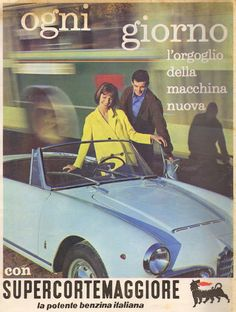 Vintage Italian, Vintage Ads, Vintage Posters, Old Advertisements, Car Advertising, Alfa Romeo Spider, Old Ads, Flyer, Fiat 500