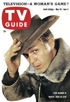 """TV Guide, May 30, 1959 - Steve McQueen of """"Wanted Dead Or Aline"""""""
