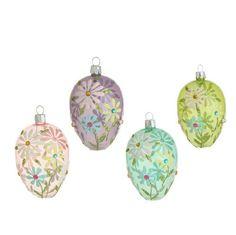 "Set of 4 - 4.5"" Easter / Spring Flower Decorated Egg Ornaments  http://www.amazon.com/dp/B00IRJ3KF8/ref=cm_sw_r_pi_dp_7QGUwb1FFCX9H"