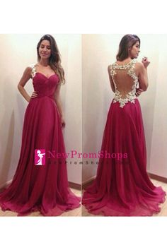 pink sheer back long chiffon straps women\'s prom party dresses ...