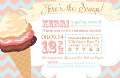 Ice Cream Cone Party Invitation by thetypetree on Etsy
