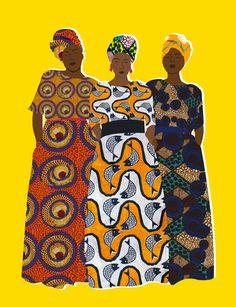 Céleste Wallaert on The pattern type and the colour combo of the patterns! Black Girl Art, Black Women Art, Art Girl, Illustrations, Illustration Art, Afrique Art, Black Artwork, Arte Pop, African American Art