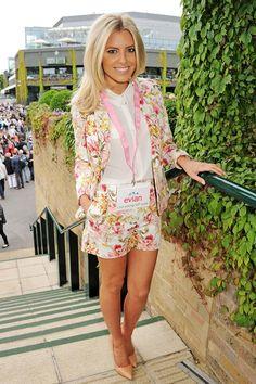 Mollie King in Florals at Wimbledon 2013 #tennis #fashion