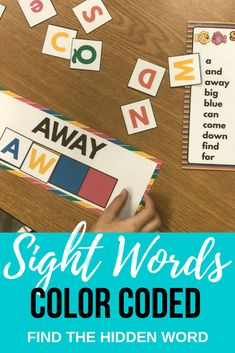 Sight word coloring - Sight Words Color Coded Find the Hidden Word Beginning to Read – Sight word coloring Teaching Sight Words, Dolch Sight Words, Teaching The Alphabet, Creative Teaching, Teaching Resources, Teaching Ideas, School Resources, Classroom Resources, Sight Word Coloring