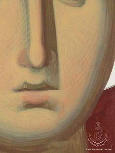 X Face Icon, Byzantine Icons, Religious Icons, Orthodox Icons, Sacred Art, Art Techniques, Renaissance, Art Projects, Portrait