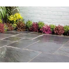 Give your garden or patio a makeover with the Homebase paving slabs range. With an array of slabs to chose from including block paving and stepping stones, look no further than Homebase. Check out our garden paving collection online or in store today. Concrete Paving Slabs, Patio Slabs, Paved Patio, Concrete Patio, Patio Stone, Garden Paving, Garden Stones, Garden Chips, Patio Kits