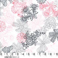 Love Lace Bloom Michael Miller Fabric 1 yard by BellaFabrics, $8.50