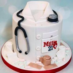 Doctor Birthday Cake, Doctor Cake, Dad Birthday Cakes, Nursing Graduation Cakes, Medical Cake, Wilton Cake Decorating, Novelty Cakes, Occasion Cakes, Cake Designs