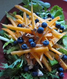 Arctic Garden Studio: Carrot and Blueberry Salad