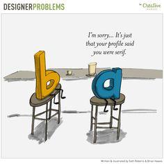 On the Creative Market Blog - Designer Problems Comic #12: Date Gone Wrong