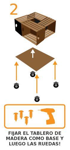 atornilla la madera y las ruedas con el taladro tools4pro