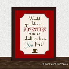 Peter Pan tea quote typography 8x10 art print - tea gift - kitchen art - kids room - nursery art. $14.95, via Etsy.