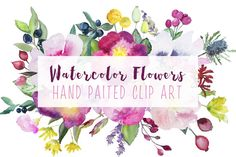 Watercolor Flowers ""