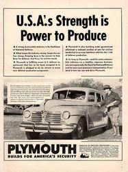 1941 Plymouth Power to Produce Original Car Print Ad