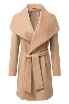 Self-tie+Sheer+Khaki+Coat+56.33
