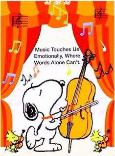 Snoopy: Music Touches Us Emotionally, Where Words Alone Can't Charlie Brown Y Snoopy, Snoopy Love, Snoopy And Woodstock, Peanuts Cartoon, Peanuts Snoopy, Psalm 150, Psalms, Snoopy Quotes, Peanuts Quotes