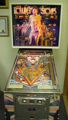 1980 Bally Rolling Stones pinball, Lady T. Pinup Art, Pinball Wizard, Las Vegas, Slot Machine Cake, Machine Video, Arcade Machine, Arcade Games, Pinball Games, Tecno