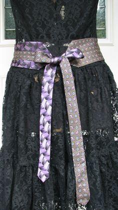 Silk Necktie Belt Chic Necktie Belt Refashioned Necktie