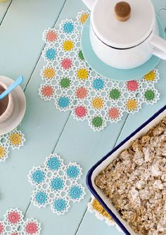 Add some zing to afternoon tea with Ayda Algin's just-for-us neon and lace coasters Light up your coffee table with this colourful set of coasters and doilies by our yarn crush du jour, Ayda ...