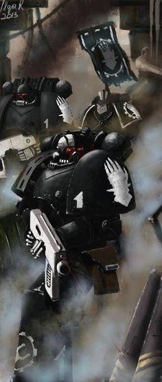 Iron Hands spacemarines, by http://ilqar.deviantart.com/