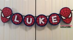 Custom Spiderman Party Banner by Flair4Paper on Etsy