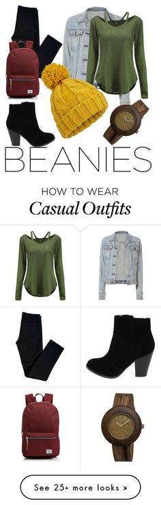 """""""Casual Hipster"""" by alessandra176 on Polyvore featuring rag & bone, J Brand, WithChic, Herschel Supply Co., Miss Selfridge and Earth"""