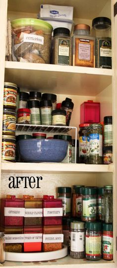 Organize your spice cabinet. Spring, the season of Wood, is the best time to spring clean and de-clutter.