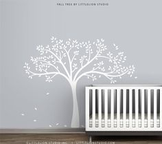 White Fall Tree Wall Decal Wall Decal by LittleLion Studio on Etsy, $70.36