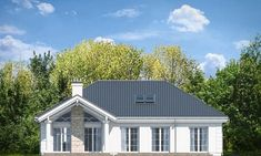 Красивый дом с большим гаражом и с чердачным помещением S8-227-5 (Дом на Парковой). Фасад 3. Shop-project