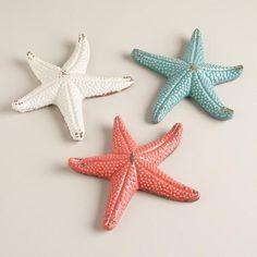 One of my favorite discoveries at WorldMarket.com: Ceramic Starfish,  Set of 3