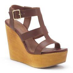 Sandales cuir hyper compensées