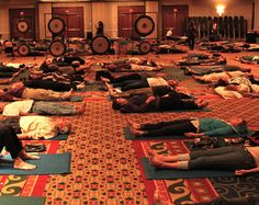 and for something completely different - world's largest shared acupuncture experience 185 people