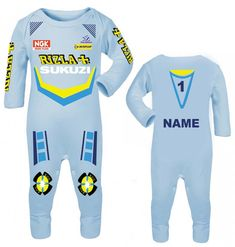 Baby Romper Suit PLUS a Baby Bib printed with FUTURE YAMAHA RIDER