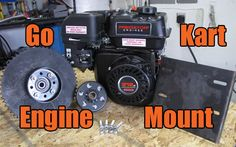 How to install the engine onto the go kart engine mount, and the go kart motor mount to the frame. Also the go kart drive wheel assembly, chain, and clutch. Go Kart Frame Plans, Go Kart Plans, Go Kart Motor, Go Kart Engines, Electric Go Kart, Diy Go Kart, Engine Repair, Small Engine, Tie Knots