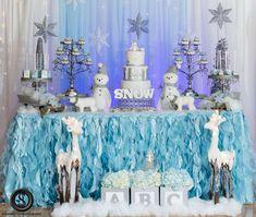 Winter Wonderland Theme Baby Shower Party Ideas | Photo 1 of 51