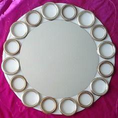"""Miroir anneaux de rideaux  en laiton """"esprit récup"""""""
