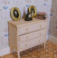how to: Gustavian dresser--this is a miniature,   but a real dresser could be fancied up, too--panels, feet, trim